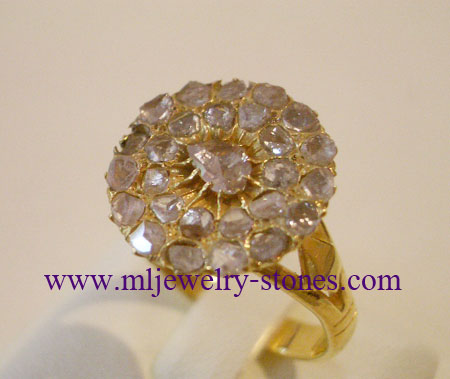 แหวนทองเพชรซีกโบราณ