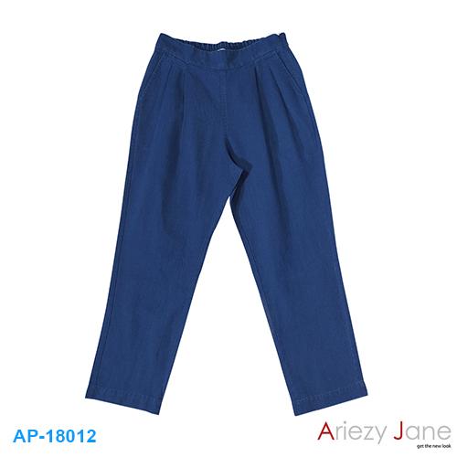 กางเกงสแล็ค ลินิน สีกรมท่า AP-18012