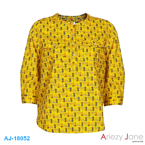 เสื้อคอจีน ลายสัปปะรด AJ-18052