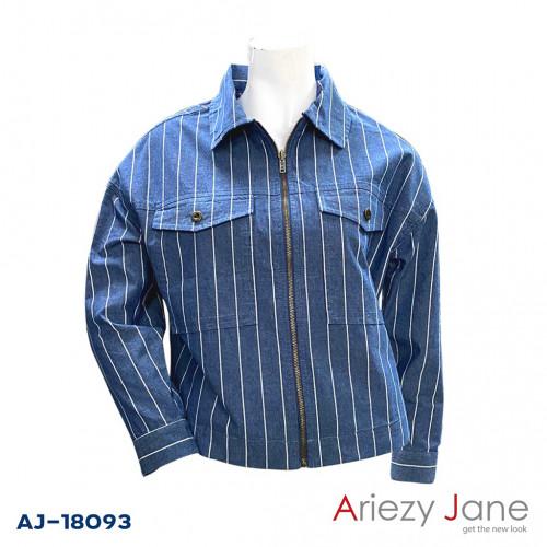แจ็กเก็ตริ้วยีนส์  AJ-18093