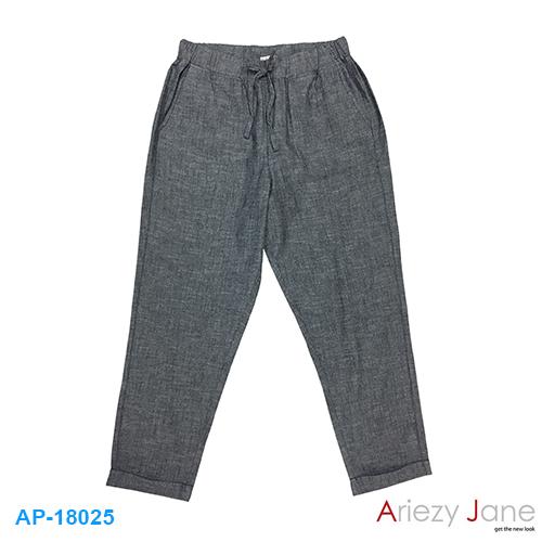 กางเกง 7 ส่วน ค็อตต้อน สลาฟ สีเทา AP-18025