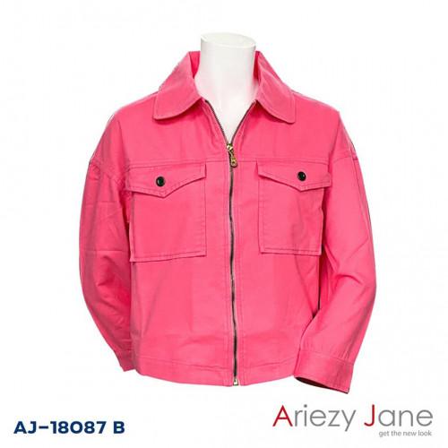 แจ็กเก็ต Cotton Twill สีขมพู  AJ-18087 B