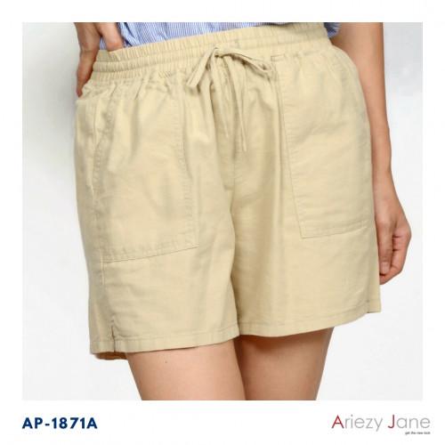 กางเกงขาสั้น ผ้าลินินผสม  AP-18071 A