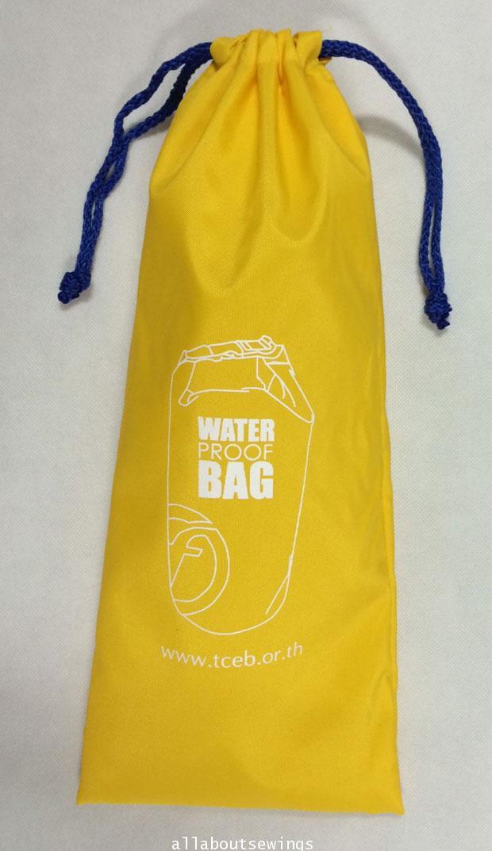 ถุงหูรูดผ้าร่มไนล่อน 420 (Waterproof bag TCEP)