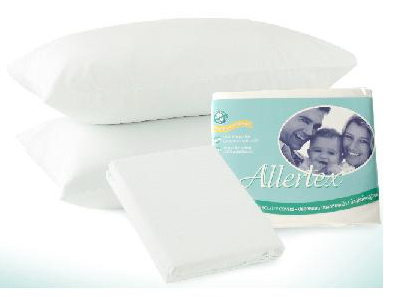 ปลอกผ้านวมเตียงเดี่ยวสำหรับป้องกันภูมิแพ้จากไรฝุ่น ขนาด 70 x 90  สีขาว