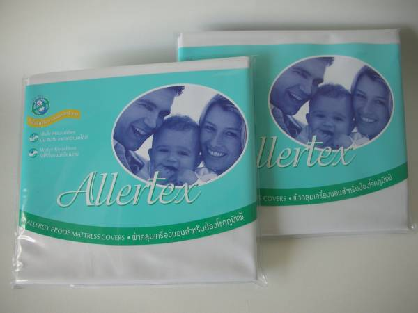 ปลอกหมอนสำหรับป้องกันภูมิแพ้จากไรฝุ่น 2 ใบ สีขาว  ( 2 Pillow Cases - White )
