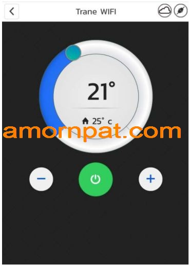 Trane Wifi Thermostat  ควบคุมเครื่องปรับอากาศ ผ่าน App 'Trane Wifi'