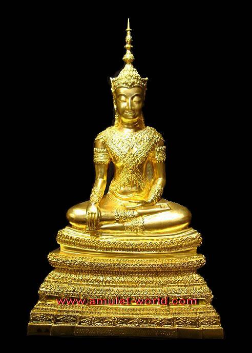 พระพุทธนิมิตรพิชิตมาร โมลีศรีสรรเพชญ บรมไตรโลกนารถ วัดหน้าพระเมรุ ตัก 9 นิ้ว ปิดทองแท้ ปี 47