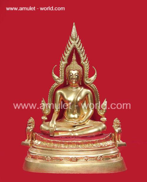พระพุทธชินราช รุ่นสมโภช 100 ปี วัดเบญจมบพิตรฯ หน้าตัก 5.9 นิ้ว ปิดทอง