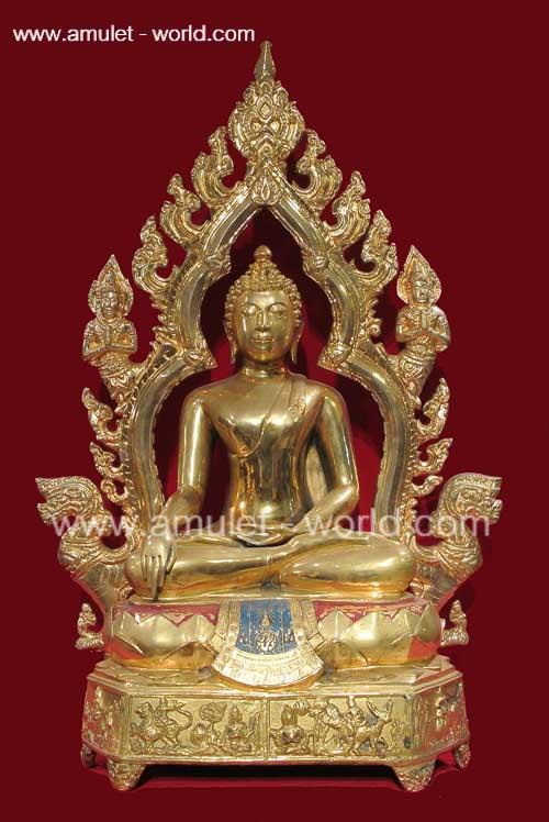 พระพุทธมงคลรัตน์ภูมิพัฒนมหามุนี ตัก 12 นิ้ว กะไหล่ทอง ในหลวงทรงฯเสด็จเททอง โชว์พระ