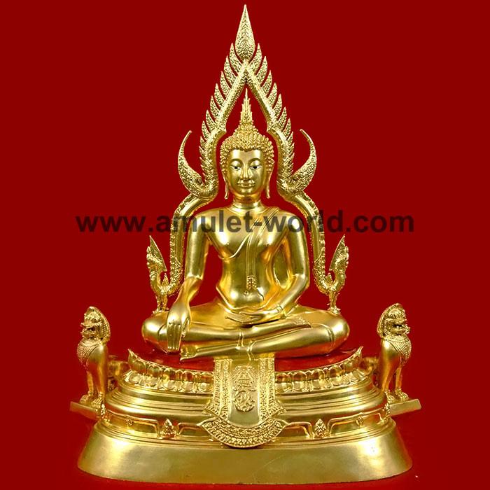 พระพุทธชินราช จปร. วัดเบญจมบพิตร กทม. ปี2539 หน้าตัก 9 นิ้ว เนื้อโลหะผสม ปิดทองคำเปลวแท้ 100 สวยมาก