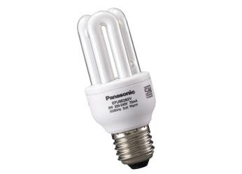 หลอดประหยัดไฟพานาโซนิค8วัตต์ แสงขาว ขั้วE27 Panasonic EFU8E672V