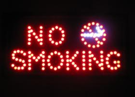 ป้ายแอลอีดี ป้าย  NO Smoking