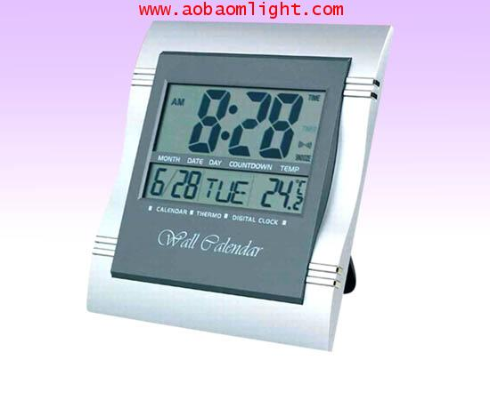 CK878 นาฬิกาปลุก ปฏิทิน200ปี แสดงอุณหภูมิได้ นับเวลาถอดหลังได้