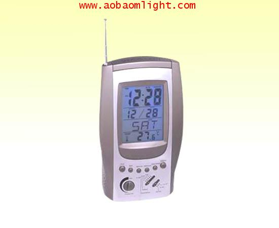 CK845 นาฬิกาปลุก ปฏิทิน200ปี วิทยุ แสดงอุณหภูมิได้ จับเวลาได้