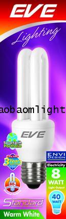 หลอดประหยัดไฟ8วัตต์อีฟ แสงวอล์มไวท์ ขั้วE27_EVE STANDARD 8W warmwhite E27