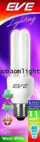 หลอดประหยัดไฟ11วัตต์อีฟ แสงวอล์มไวท์ ขั้วE27_EVE STANDARD 11W warmwhite E27