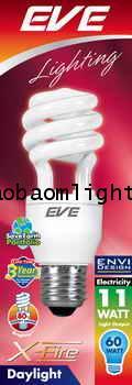 หลอดประหยัดไฟ11วัตต์อีฟ แสงขาว ขั้วE27_EVE X-FIRE 11W DAYLIGHT E27