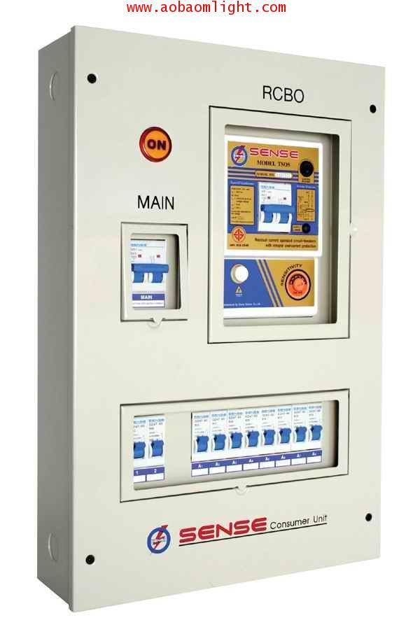 ตู้ไฟ คอมซูมเมอร์ยูนิต เซนส์ รุ่น TS 10 สำหรับไฟฟ้า 1เฟส 2 สาย
