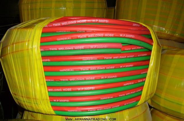 สายลมคู่เขียวแดง ดำแดง เหลืองดำ, สายเชื่อมคู่เขียวแดง ดำแดง เหลืองดำ (Twin Welding Hose)