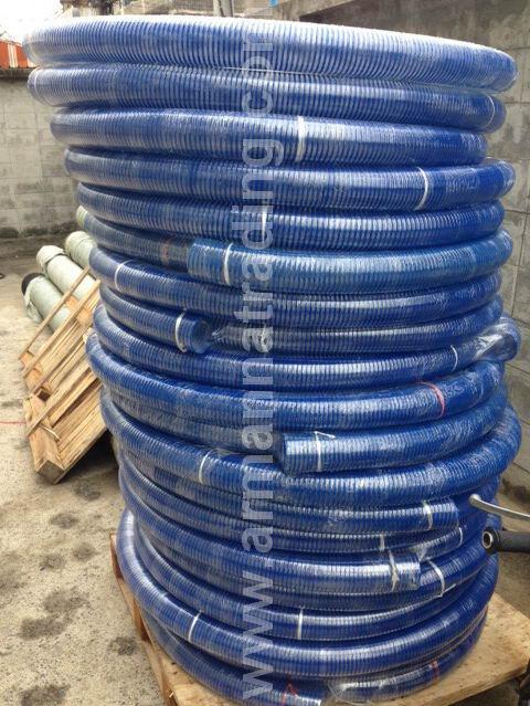 ท่อดูดสีฟ้า, ท่อดูดสีฟ้าผิวเรียบ, ท่อดูดสีฟ้าเกลียวนูน(เกลียวหนอน)