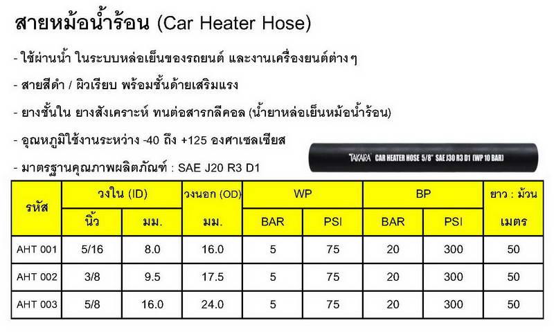 สายฮีตเตอร์ (Heater Hose)