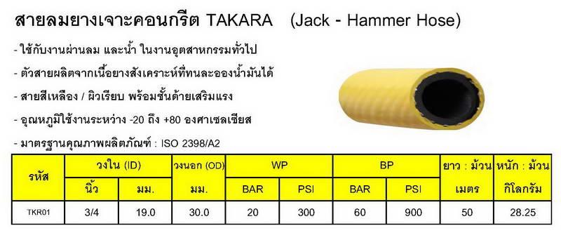 สายลมยางสีเหลืองTAKARA 1