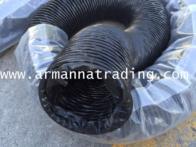 ท่อผ้าใบทาโพลีนไม่ลามไฟ(สีดำ)