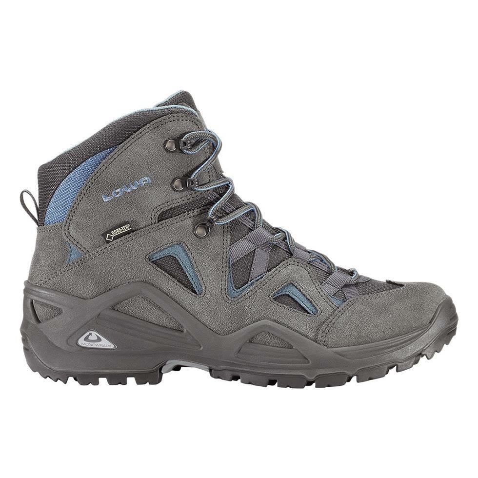 รองเท้า LOWA men\'s Zephyr GTX Mid Hiking Boot Anthracite/Gray