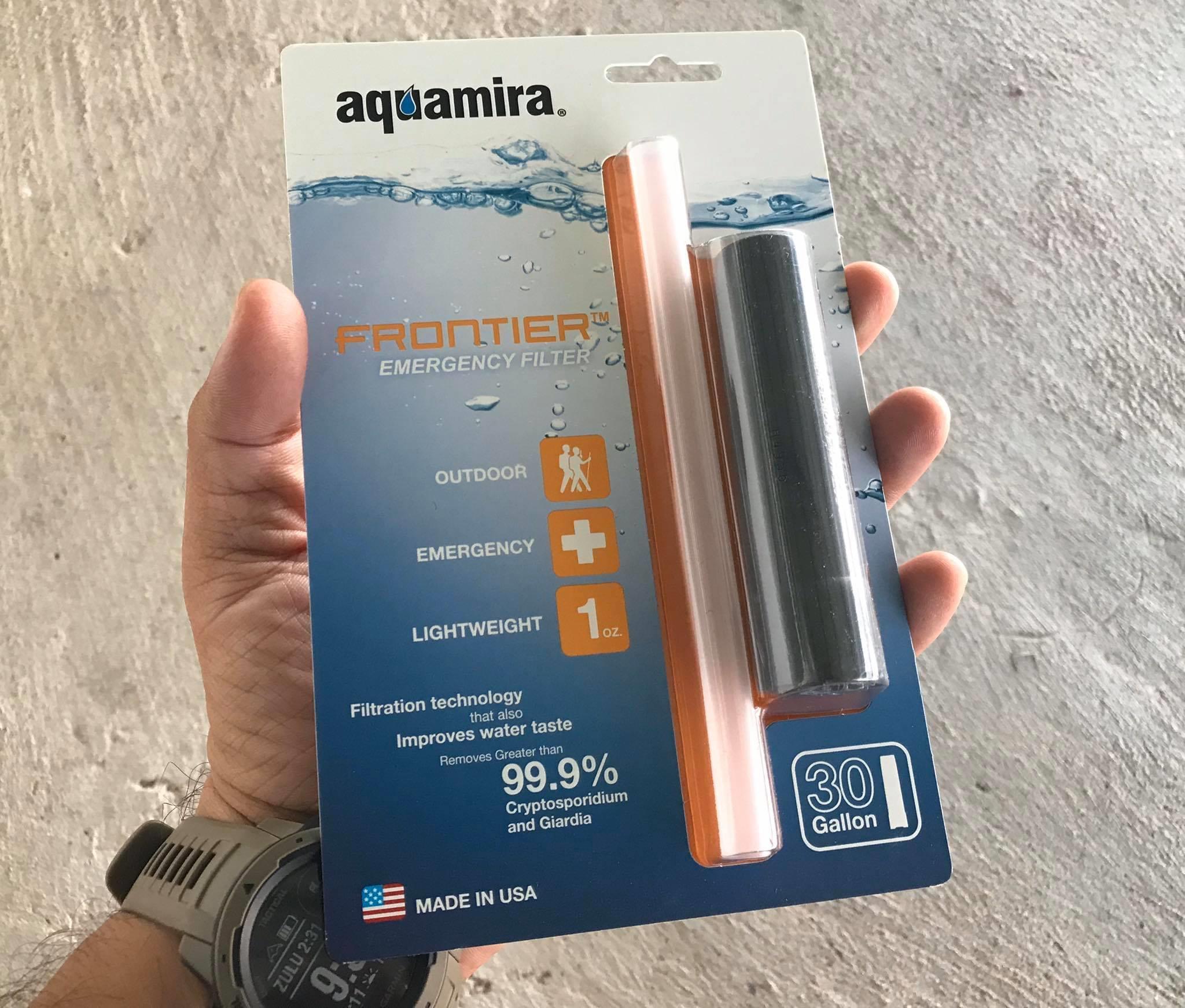 เครื่องกรองฉุกเฉิน Aquamira รุ่น frontier emergency filter