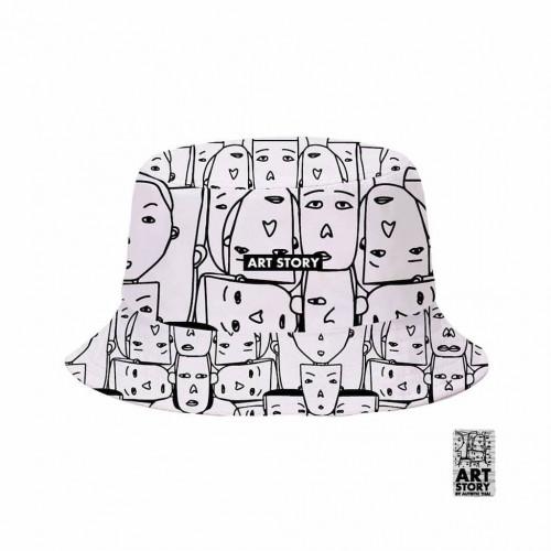 หมวก Bucket พิมพ์ลายปีกรอบ