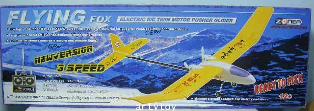 เครื่องบินบังคับวิทยุ Flying Fox  เครื่องบิน 2CH ลำพลาสติก เล่นง่าย