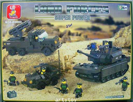 ตัวต่อ ชุด Land Force (602 ชิ้น)