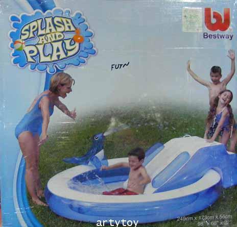 สระน้ำเป่าลมสไลเดอร์ SplashPlay (FUTN)