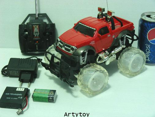 รถบิ๊กฟุตล้อไฟบังคับวิทยุ Scale1:16 แบตชาร์ตไฟบ้าน