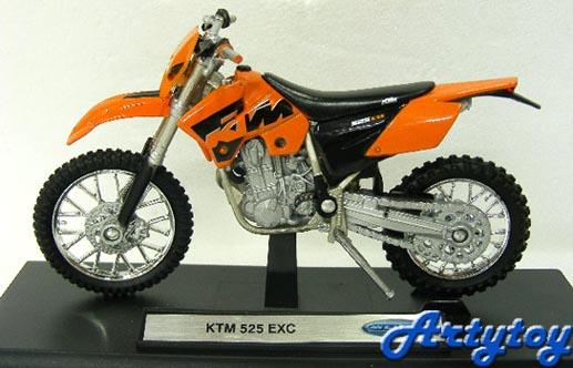 มอเตอร์ไซด์วิบาก KMT 525 EXC SCALE1:18(FUT)