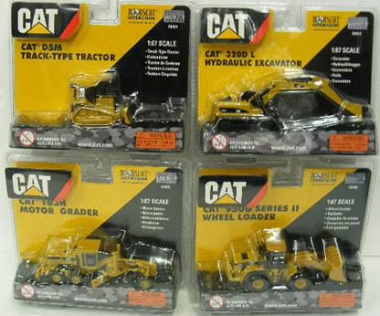 โมเดลชุดเครื่องจักรก่อสร้าง CAT  Scale1:87 ใน 1 Set มี 4 คัน
