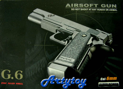 Airsoft Gun รุ่น G6  ทำจากโลหะ Zinc Alloy (JBN)