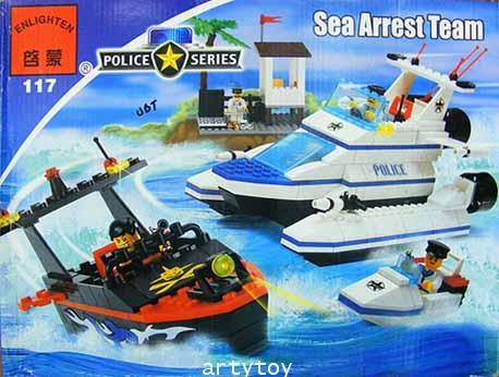 ตัวต่อ Police Series ชุด ทีมสายตรวจการณ์ทางทะเล Sea Arrest Team