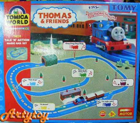 ชุดรถไฟ ThomasFriends  Talk\'n\'Action Magic Rail Set ของแท้จาก TOMY