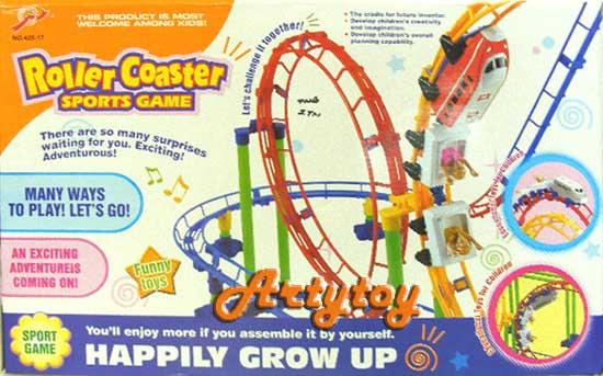 ชุดรถไฟเหาะตีลังกา Roller Coaster  เหมือนเล่นอยู่ที่สวนสนุกจริงๆ