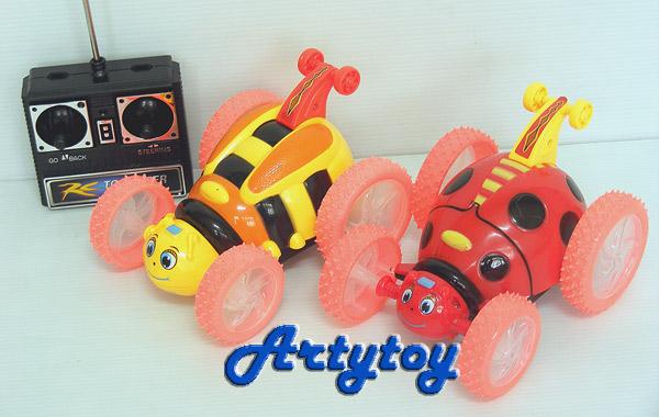 insect Car  รถตีลังกา ทรงแมลงเต่าทองและผึ้งสีสันสดใส  มีไฟมีเสียงดนตรีเวลาเล่น