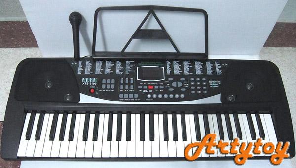 Keyboard ไฟฟ้า รุ่น XTS5199 อิเล็กโทนมาตรฐานเสียงดี มีไมโครโฟน สามารถใส่ถ่านหรือเสียบไฟบ้านได้
