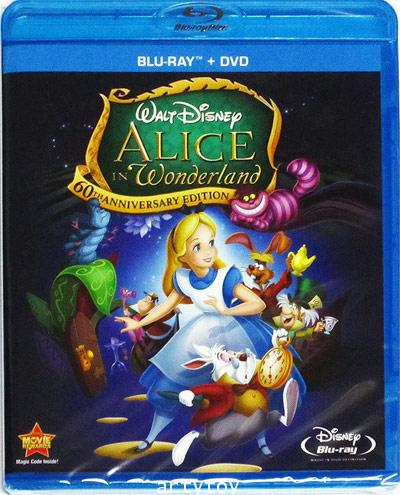 Alice In Wonderland: 60th Anniversary Edition(DTS HD)(Blu-ray U.S.A.) (2-Disc Blu-ray / DVD Combo)