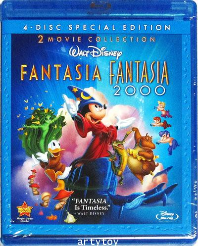 Fantasia  Fantasia 2000: 2 Movie Collection (7.1 DTS HD) (Blu-ray) (U.S.A.) (4-Disc Blu-ray / DVD)