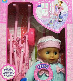 ตุ๊กตาเด็กทารกพร้อมรถเข็น