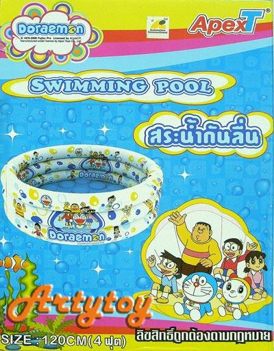 สระน้ำเป่าลม Doraemon ขนาด 4 ฟุต มีพื้นกันลื่น สินค้าลิขสิทธิ์จาก ApexToy