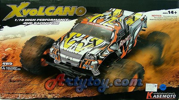 รถบิ๊กฟุตไฟฟ้า X-Volcano รุ่นใหม่ 2.4GHz  จากค่าย KASEMOTO Scale 1:10 จัดเต็มสำหรับลุยแบบโหดๆ!!