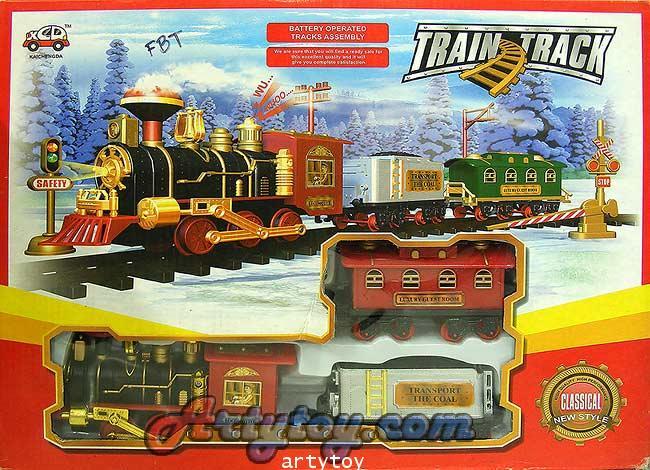 รถไฟคลาสสิกวิ่งราง TrainTrack มีไฟ มีเสียง