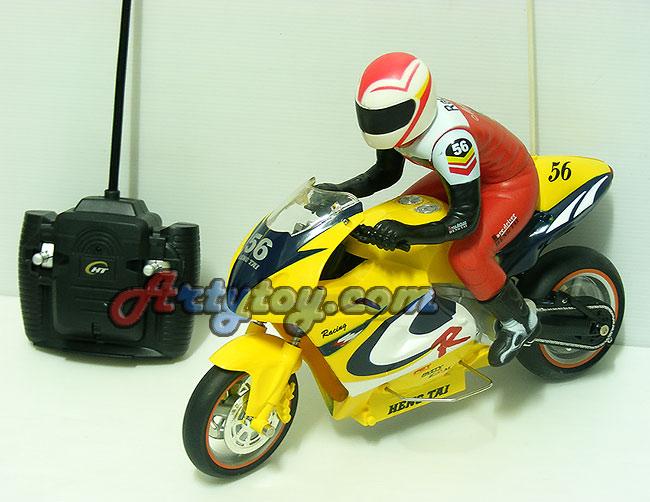 รถมอเตอร์ไซด์บังคับ Motorbike Tracer  Scale 1:8 สวยเหมือนจริง วิ่งแรงเร็ว 2 ล้อ ไม่ต้องใช้ล้อช่วย